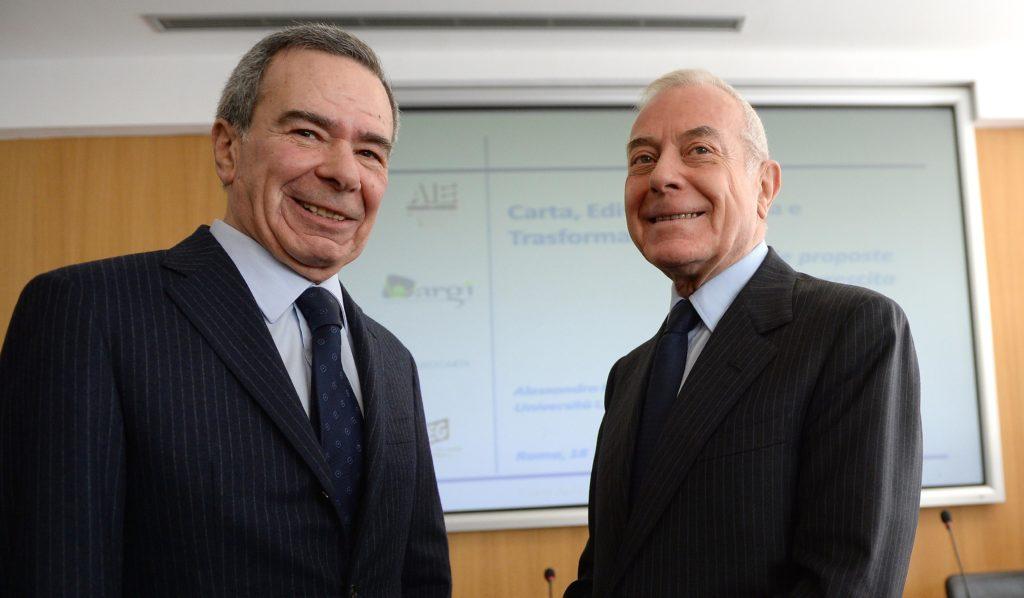 Giulio Anselmi e Gianni Letta