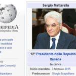 Mattarella: Wikipedia anticipa l'elezione, ma il Presidente non è sui social