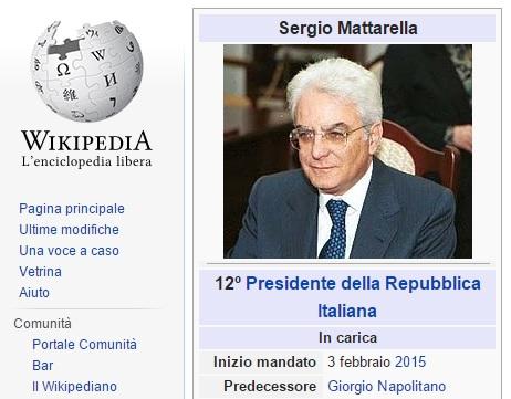 wiki Sergio Mattarella