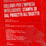 """""""Colloqui per l'Impresa Intelligente: Stampa 3D, dal progetto all'oggetto"""". Giovedì 18 giugno a Venezia"""