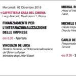 Finanziamenti delle imprese – 2 dicembre Roma