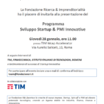 Sviluppo Startup & PMI Innovative – 28 gennaio Roma