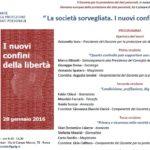 La società sorvegliata. I nuovi confini della libertà – 28 gennaio Roma