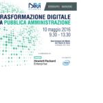 La trasformazione digitale della PA 10 maggio Roma