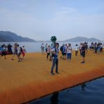 The Floating Piers di Christo online su Google Street View