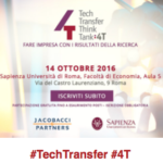 14 ottobre 4T – Tech Transfer Think Tank
