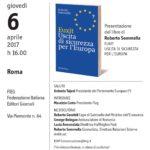 Dialogo sul futuro dell'Europa - 6 aprile FIEG Roma