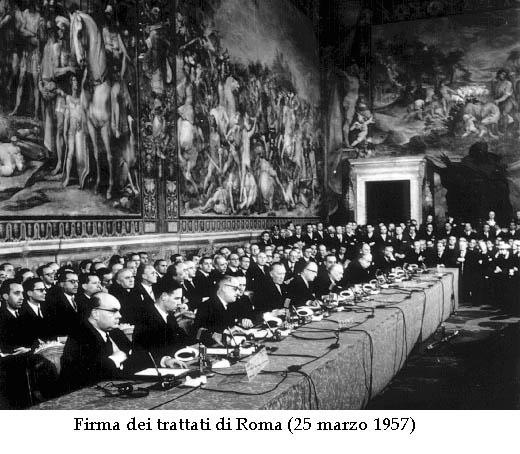 Firma dei trattati di Roma 25 marzo 1957