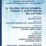 Il valore della stampa: vissuti e aspettative dei lettori – 7 novembre Milano