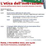 L'etica dell'Innovazione – 7 novembre Roma