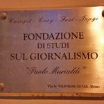 Inaugurazione Fondazione Murialdi – 23 novembre Roma