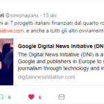 Agi fra i vincitori della Digital News Initiative di Google