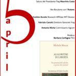 ALGORITMI DI LIBERTA' di Michele Mezza – 5 aprile FIEG Roma