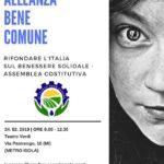 Nasce ABC Alleanza Bene Comune per rifondare l'Italia sul benessere solidale