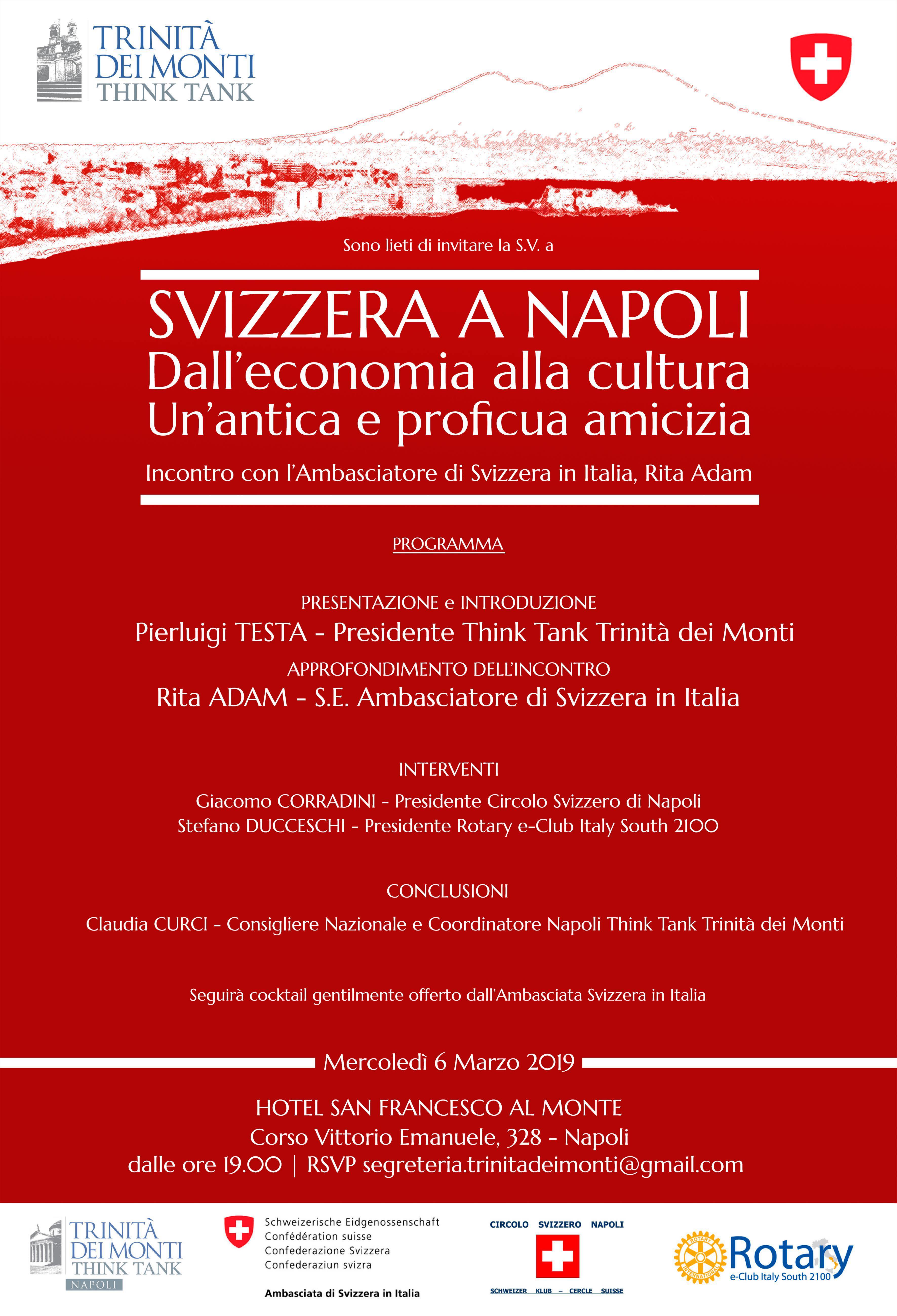 Think Tank Trinità dei Monti: Svizzera a Napoli 6 marzo
