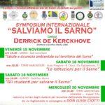 """""""Salviamo il Sarno"""" - Symposium Internazionale il 15 e 16 novembre a Sarno/Torre Annunziata e Scafati"""